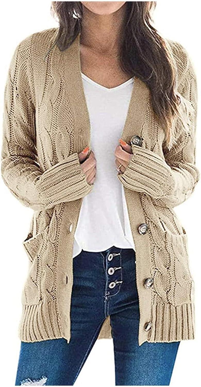 YAYUMI Women's Boho Patchwork Cardigan Long Sleeve Open Front Knit Sweaters Coat Pockets Comfortable Coat top