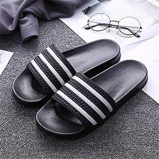 LJLLINGA Men Slippers Home Soft Breathable Flat Slides Non-Slip Unisex Indoor Bathroom Slippers Comfy Sandals Beach Flip F...