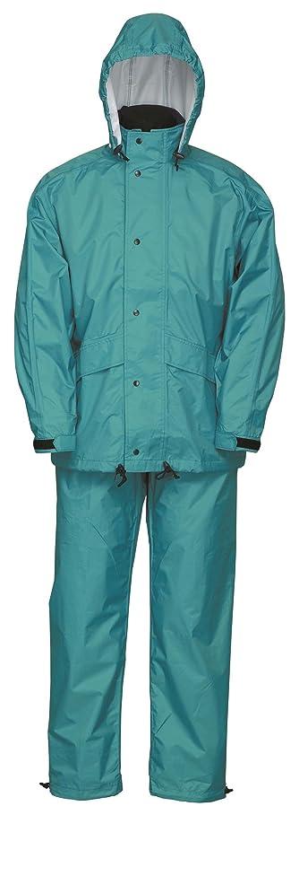 羊の苦時間とともにナダレス 雨衣 レインウエア スプル-スス-ツ 8010 タ-コイズ 5Lサイズ