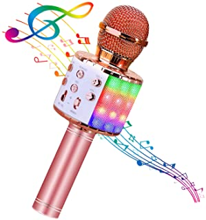 BlueFire 4 in 1 Bluetooth Handheld Wireless Karaoke Microphone Portable Speaker Machine Home KTV Player with Record Functi...