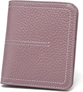Women's Rfid Blocking Small Compact Bifold Leather Wallet Ladies Mini Purse with id Window