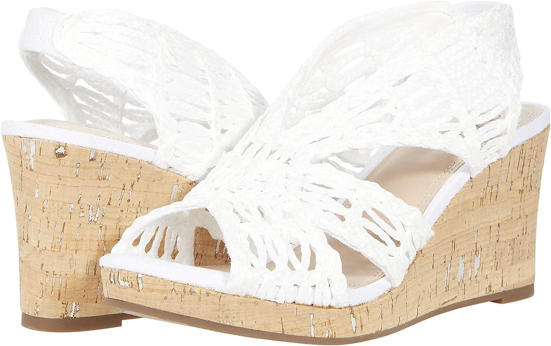 Impo TERINEE Woven Raffia Platform with Foam Sandal Memory Wedge Special sale item Sale