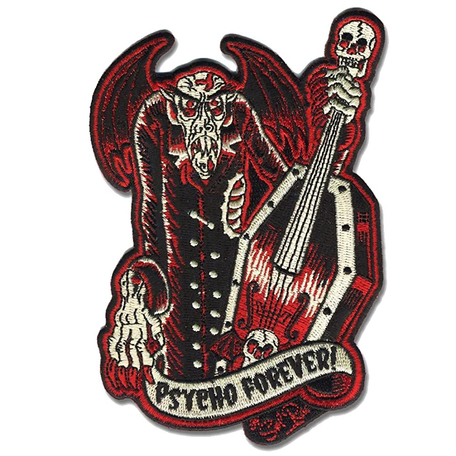 Sol Rac Psycho Forever Monster Patch Embroidered Iron On Applique