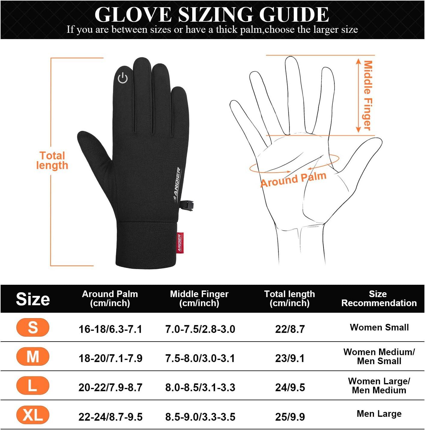 coskefy Winter Gloves Touchscreen Running Gloves Anti-slip Thermal Gloves Warm Liner Gloves Phone Gloves Men Women for Sports Cycling Hiking Walking Riding Bike