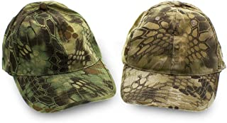 Tac Threads 2 Pack Banshee and Green Highlander Camouflage Hat for Men, Snapback Cap for Men, Camouflage for Baseball, Hunting, Fishing, Military Tactical Caps, Army Dad Hat, Mens Hats, Trucker Hat