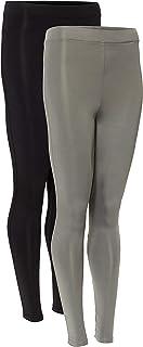 AURIQUE Amazon Brand Women' s Sports Leggings, Pack of 2