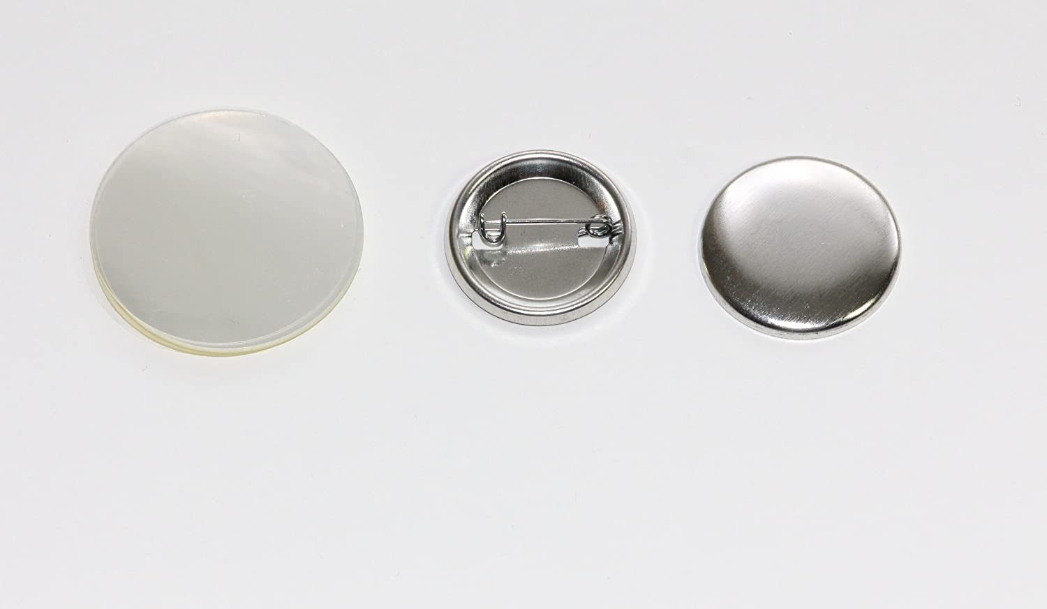 1.25 inch 500-Pack Round Metal Back-Pin shells Rapid rise Buttons Sets Very popular