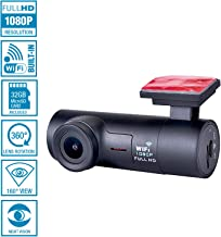 NuCam AW 1080P/60fps Full HD WiFi Dash Camera with G-Sensor&Mic(Class 10 Kingston 32gb MicroSD Card Included), 160°Wide Angle and 360°Rotatable