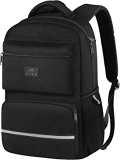 Middle School Backpack, Waterproof High School Student Laptop Backpacks for Women, Men, Boys and Girls, Cute Lightweight Computer Bookbag Fits 15 Inch Laptop and Notebook, Black