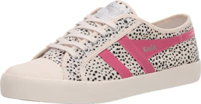 Gola Coaster Cheetah (Off-White/Fluro Pink) Women