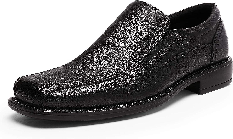 Bruno Marc Men's Leather Slip On Dress Loafer Shoes