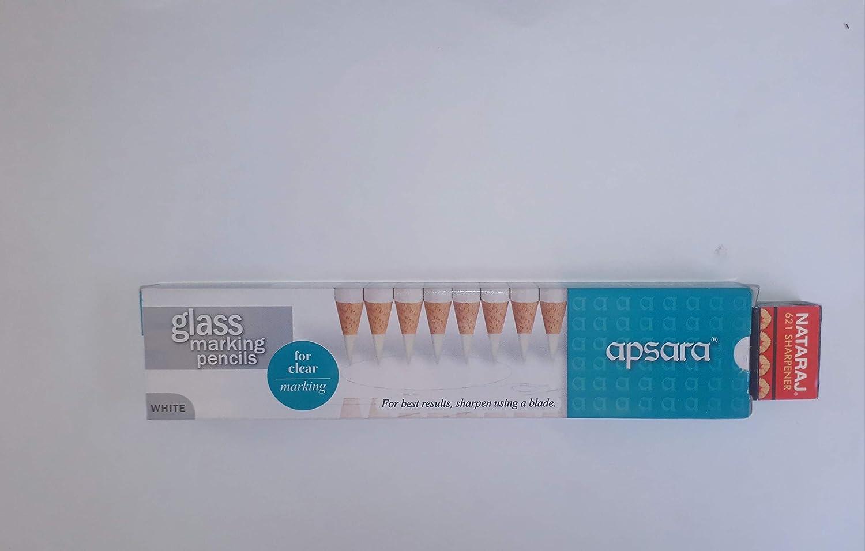 Apsara Glass Marking Pencils 10pcs White 2021 model Ranking TOP13 Free Sharpener