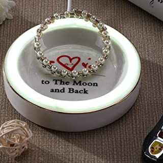 Gift for Mother neon sign Jewelry Trays-I Love You to The Moon and Back,birthdays Mothers Day gift (Y-Back)