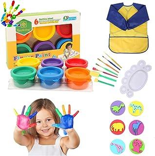 Peinture au Doigt Enfant - Peinture Enfant Lavable Crayola Set, Sûr et Non Toxique Peinture Bebe Non Toxique, pour Débutan...