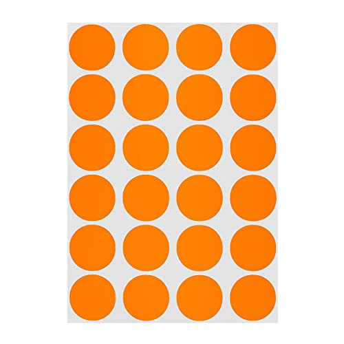 """500 Labels Round 3//4/"""" Inch ORANGE Color Coding Coded Inventory Sticker Dot"""