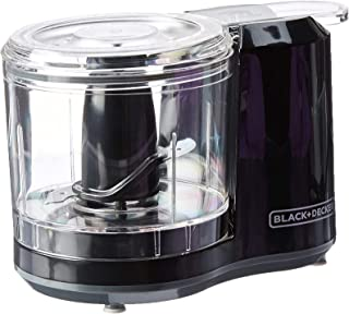 BLACK+DECKER 1.5-Cup Electric Food Chopper, Improved Assembly, Black, HC150B (Renewed)