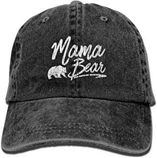 Mama Bear Baseball Hat Men and Women Summer Sun Hat Travel Sunscreen Cap Fishing Outdoors