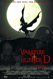 Vampire Hunter D Bloodlust Animated Original Single Sided Rolled 27x40 Movie Poster 2000