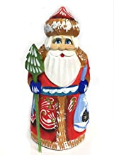 """Lonestar Wholesaler 5"""" Wooden Hand Carved Painted Russian Santa Claus Figurine"""