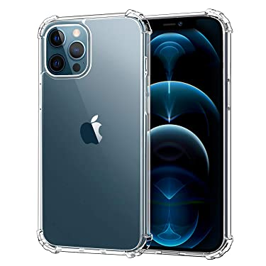 MoKo Compatible with New iPhone 12 Pro Max Case 6.7 inch 2020, Anti-Yellow Shockproof Reinforced Corners TPU Bumper & Anti-Scratch Transparent Hard Panel Protective Cover, Crystal Clear