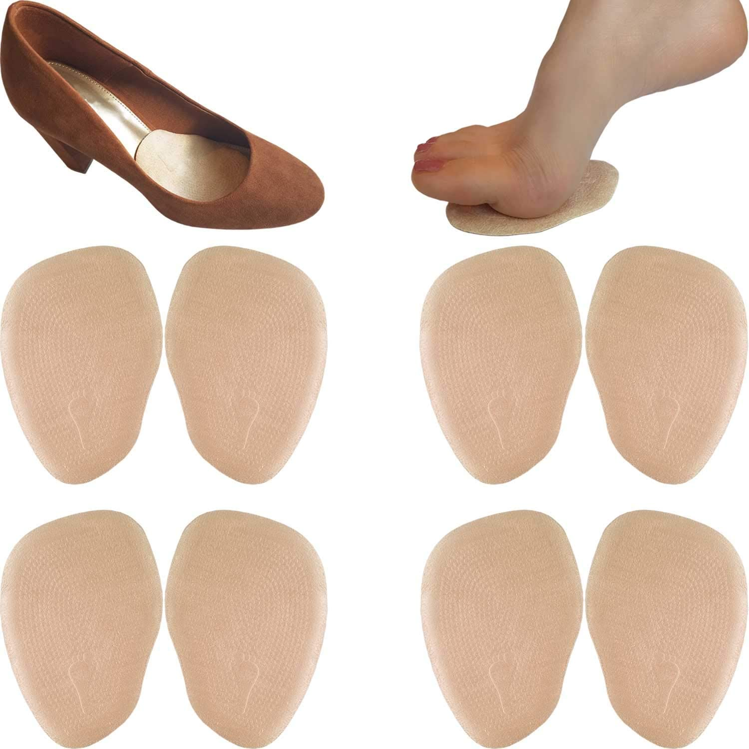 Chiroplax Outlet ☆ Free Shipping High Heel Cushion Inserts Pads 4 Ball Suede of Pairs low-pricing