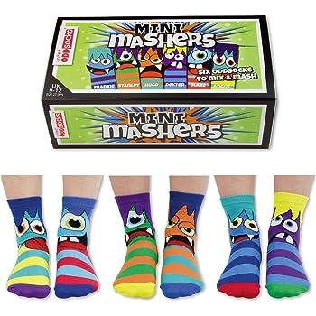 United Oddsocks Mini Mashers - 6 Oddsocks for Kids UK 9 - 12 EU 27 -30.5