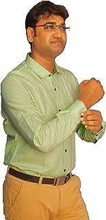 The crush Men's Formal Shirts Lime