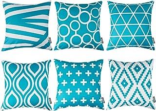 HOMFREEST Blue Throw Pillows Case Geometric Pattern Throw Pillow Covers 18