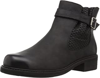 Walking Cradles Women's Devin Ankle Boot, Black Distressed, 7.5 XW US