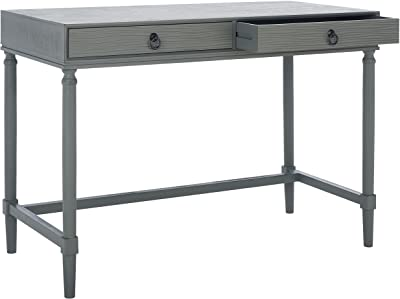SAFAVIEH Home Collection Rhyne Taupe 2-Drawer Computer Table Office Desk DSK5702B, Grey