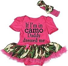 pink camo baby dress