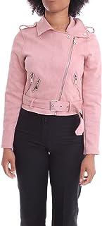 Luxury Fashion   H2o Italia Women ESITOROSA Pink Faux Leather Jacket   Spring-summer 20