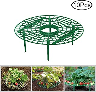 F.O.T Strawberry Supports, Diameter 11.8 inch Plant Supports Cages Cradles, Protection of Strawberry Plants from Mold, Rot and Surrounded by Dirt, 10 Pcs per Pack