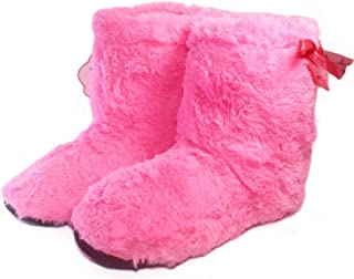 Women Home Slippers Winter Warm Plush Indoor Shoes Comfortable Solid Flock Ladies House Floor Cotton Slip On Botas