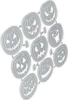 EXCEART Citrouille Halloween Die Cut en Acier Au Carbone Halloween Matrices à Découper en Métal Gaufrage Pochoirs pour Bri...