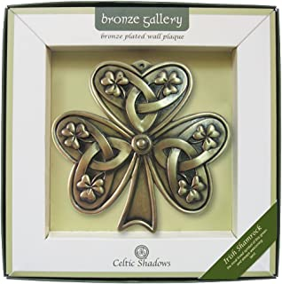 Carrolls Irish Gifts Bronze Plated Wall Plaque with Shamrock Design