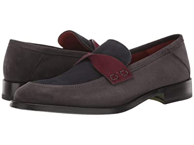 Etro Suede Loafer (Grey Combo) Men