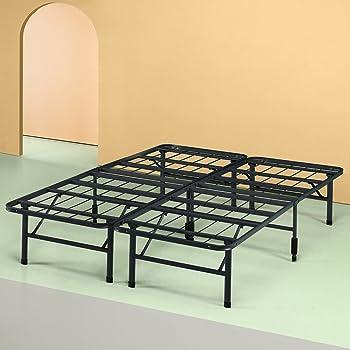 Zinus Shawn 14 Inch Metal SmartBase Bed Frame / Platform Bed Frame / No Box Spring Needed / Sturdy Steel Frame / Underbed Storage, Queen