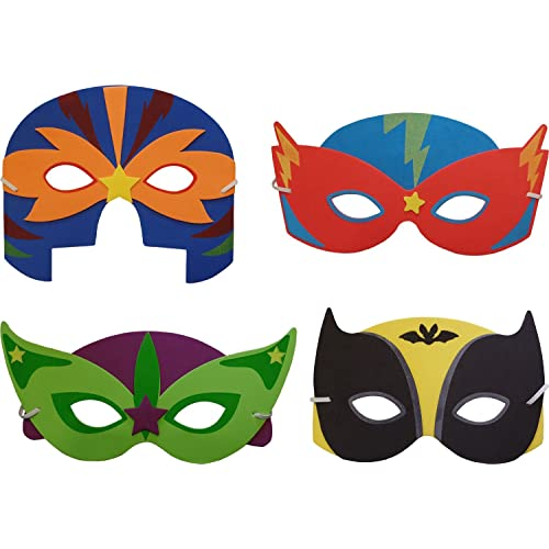 Latex-Free for Kids BEFANS Superheroes Party Masks for Children Christmas Party Masquerade 31 Piece Superhero Cosplay Masks