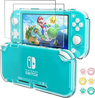 Hestia Goods for Nintendo Switch Lite Protective Clear Case, with 2-Pack Switch Lite Tempered Screen Protector and 6 Pcs C...