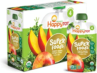 Happy Tot Organic Stage 4 Super Foods Toddler Food Apple Mango and Kale, 4.22 Ounce,  Pack of 16 (Packaging May Vary)