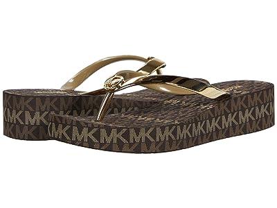 MICHAEL Michael Kors Bedford Flip-Flop (Gold/Brown) Women