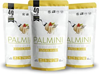 Palmini Low Carb Angel Hair | 4g of Carbs | As Seen On Shark Tank | Hearts of Palm Pasta (12 Ounce - Pack of 3)