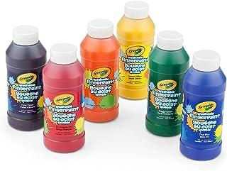 Crayola 绘儿乐 可清洗手指画颜料,8盎司(约237毫升)瓶,6瓶装