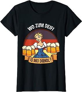 Wo zum Deifi is mei Dirndl T-Shirt Damen Wo zum Deifi is mei Dirndl T-Shirt für das Oktoberfest