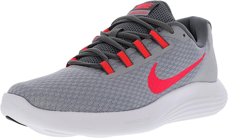 Nike WMNS Lunarconverge–Turnschuhe, Damen, Grau (Wolf grau Solar rot-cool grau-schwarz)