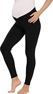 V VOCNI Maternity Leggings for Women Underbelly Pregnancy Leggings Until Birth and Postpartum Nursing Support Maternity Pants