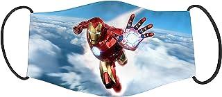 Vista Kids Super Hero Iron Man Printed Mask -Cotton Reusable Washable Mask Size 18x10cms