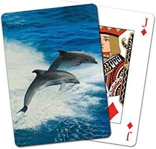 Tree-Free Greetings Deck of Playing Cards, 2.5 x 0.8 x 3.5 Inches, Dolphin Duo  (CD15929)