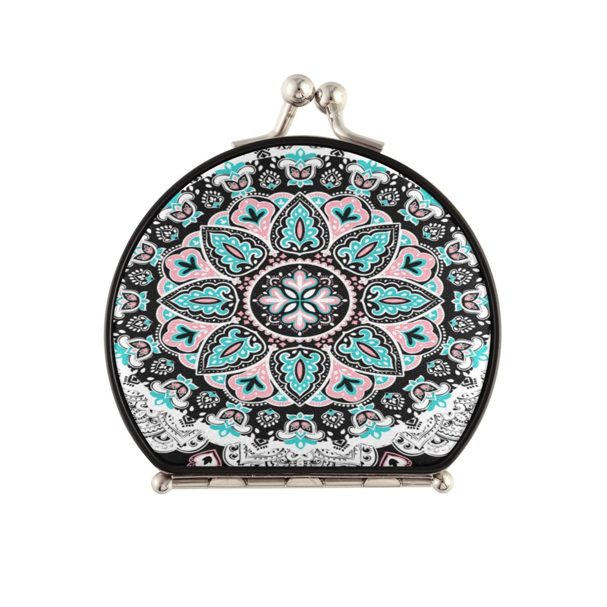Magnifying wholesale Compact Fashion Cosmetic Mirror Floral Paisley Medalli Indian